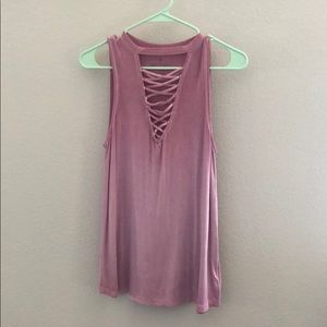 American Eagle Outfitters Tops - Americans Eagle Women's tank lace up